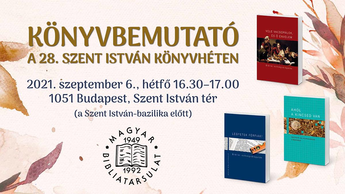 Szent István Könyvhét és könyvbemutató