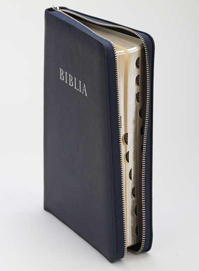 Bible, new translation (RÚF 2014), big size, leather, zipper
