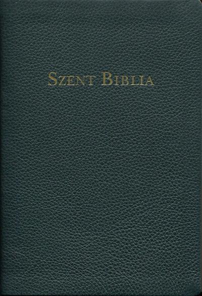 Károli Biblia, nagy családi, bőrkötés, arany élmetszés